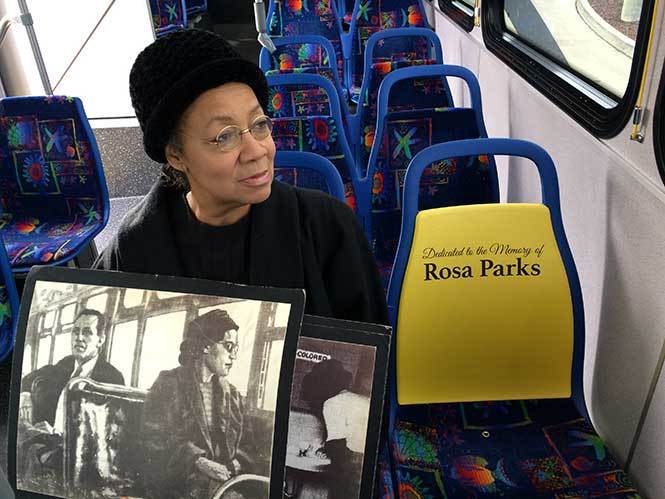 Condra Ridley as Rosa Parks – Local librarian Ms. Ridley has portrayed the history of Ms. Parks with numerous presentations.