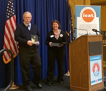 Citilink Board Chair Fred Lanahan was presented with a Indiana Citizens' Alliance for Transportation (ICAT) Transit Advocate of the Year Award