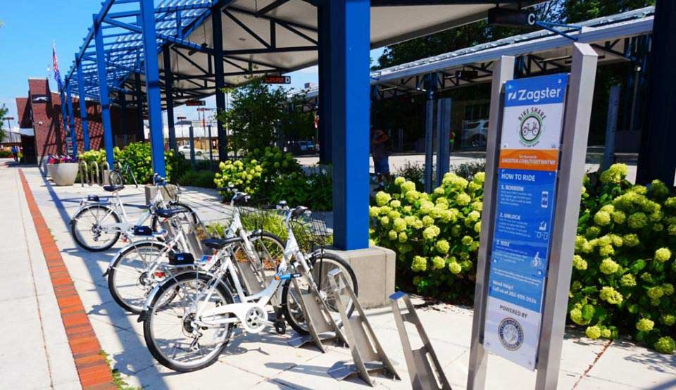 Citilink Central Station offers one of five Zagster Bike Share stations in Downtown Fort Wayne