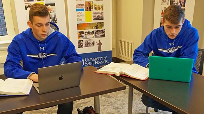 Kyle and Alex are twins attending University of Saint Francis - Fort Wayne, IN.